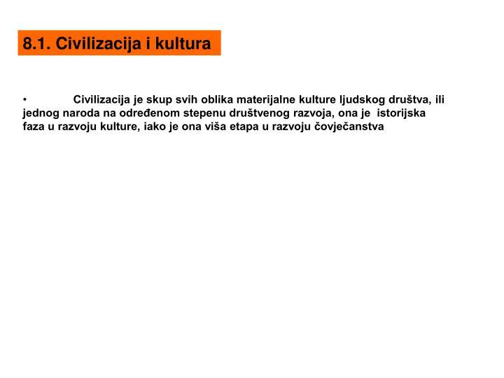 8.1. Civilizacija i kultura