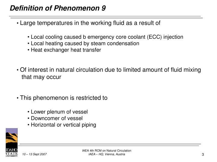 Definition of Phenomenon 9