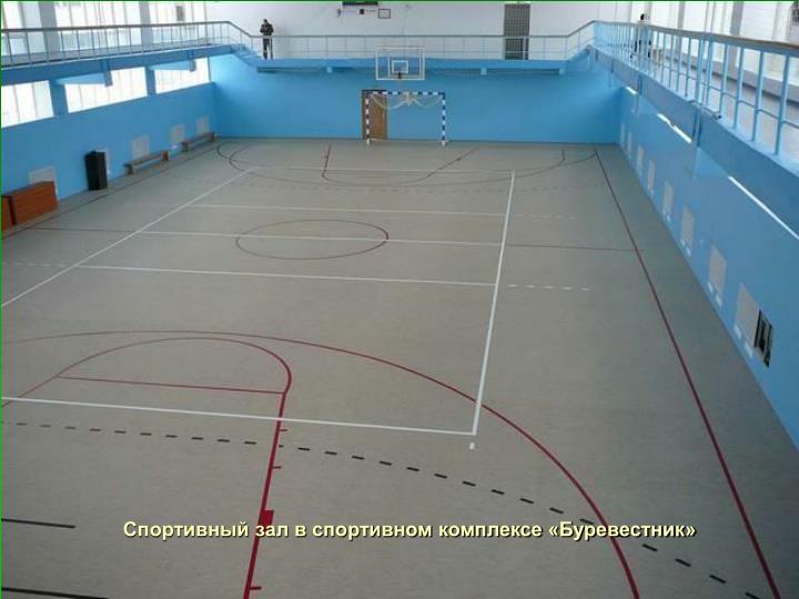 Спортивный зал в спортивном комплексе «Буревестник»