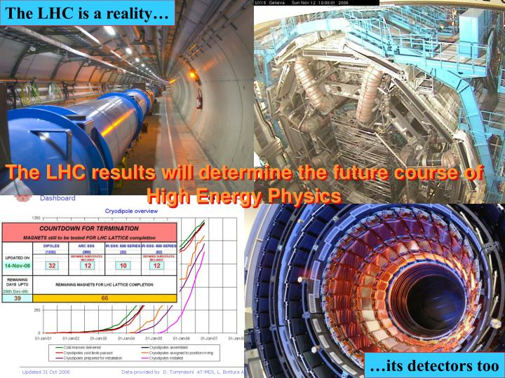 The LHC is a reality…
