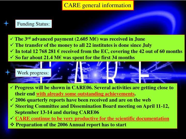 CARE general information