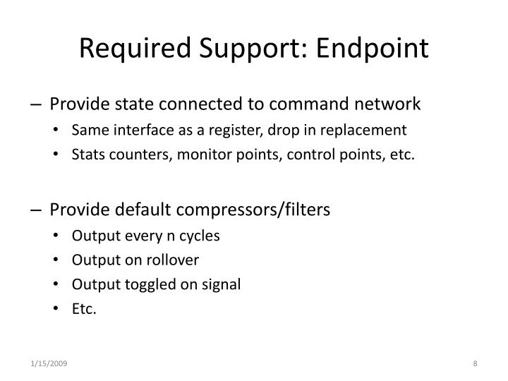 Required Support: Endpoint