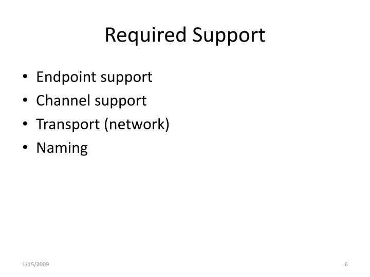 Required Support