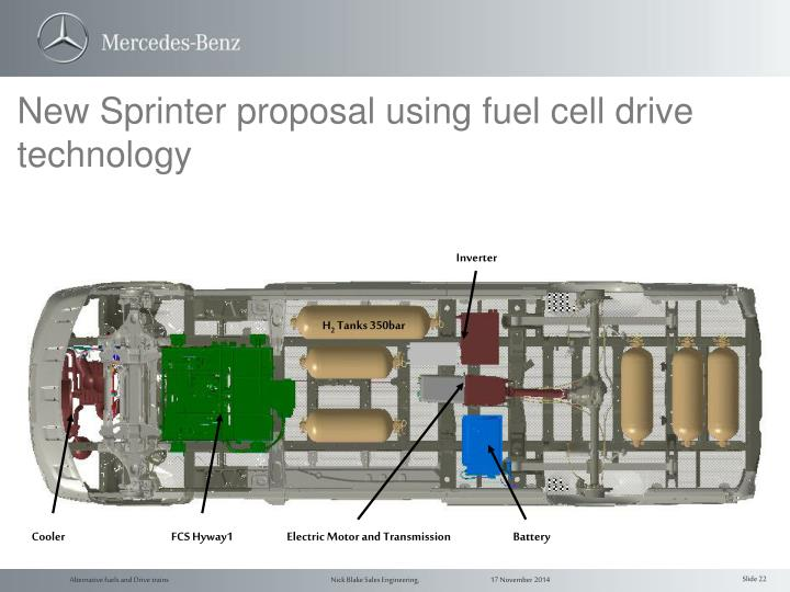 New Sprinter proposal using fuel cell drive technology