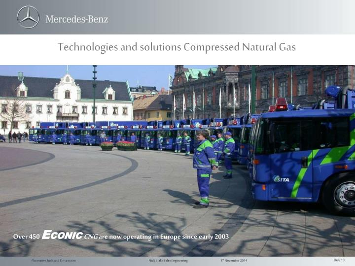 Technologies and solutions Compressed Natural Gas
