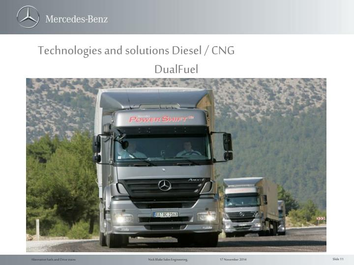 Technologies and solutions Diesel / CNG