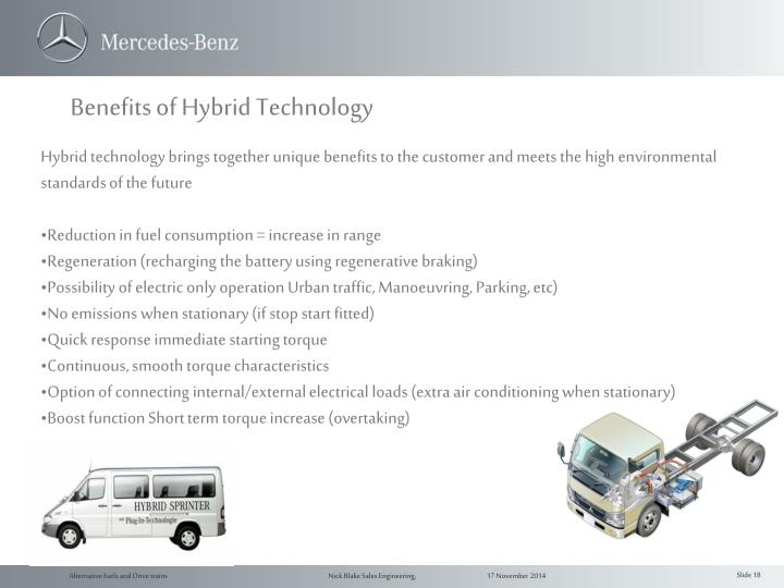 Benefits of Hybrid Technology