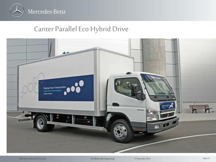Canter Parallel Eco Hybrid Drive