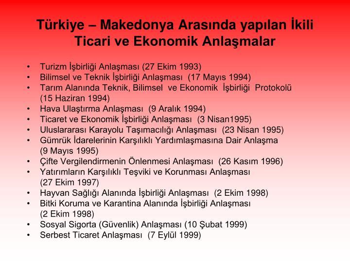 Türkiye – Makedonya