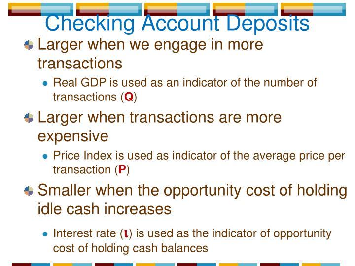 Checking Account Deposits