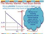 the money market fed buys bonds