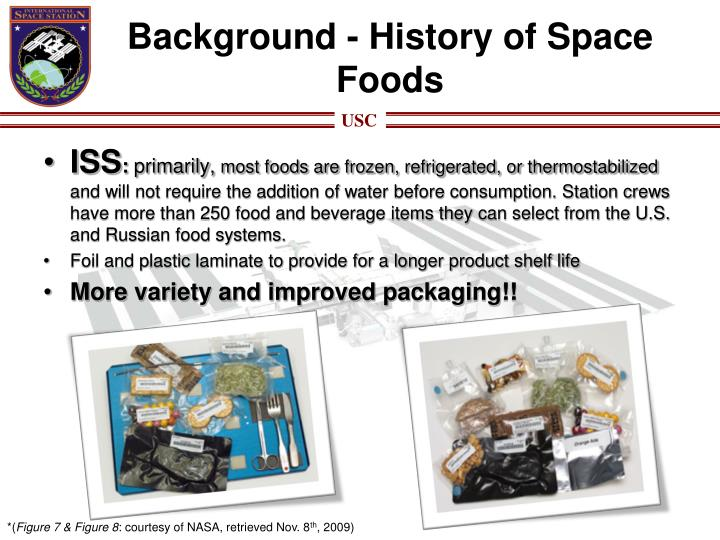Background - History of Space Foods