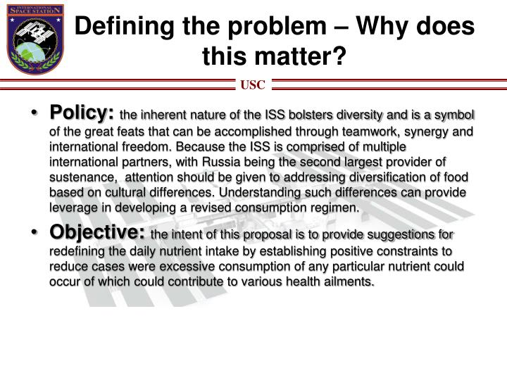 Defining the problem – Why does this matter?