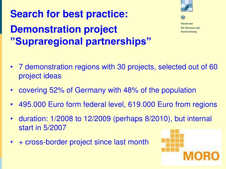 Search for best practice: