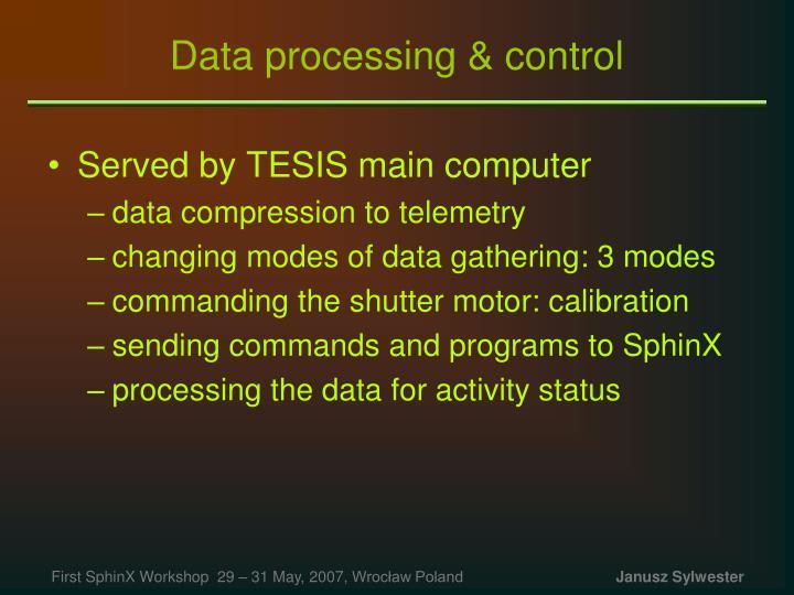 Data processing & control