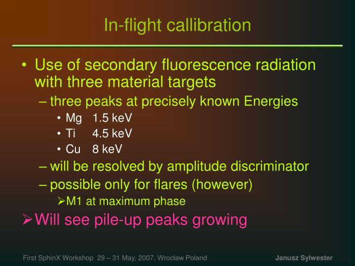 In-flight callibration