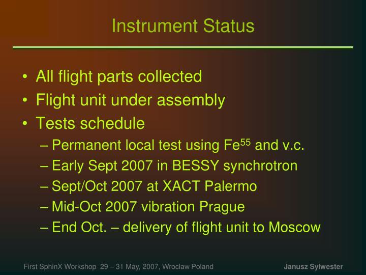 Instrument Status