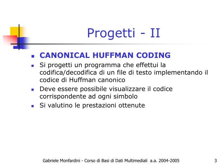 Progetti - II