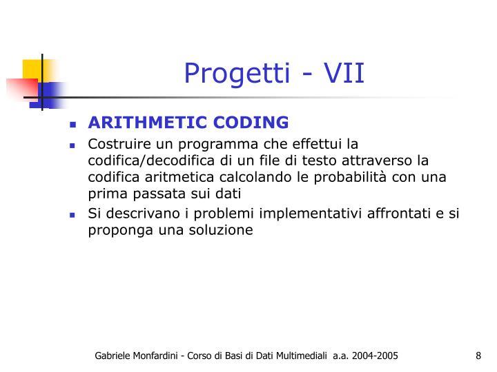 Progetti - VII