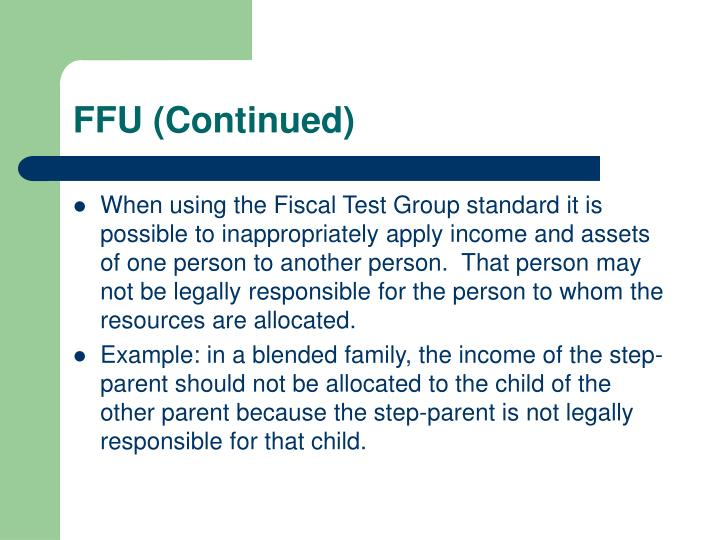 FFU (Continued)