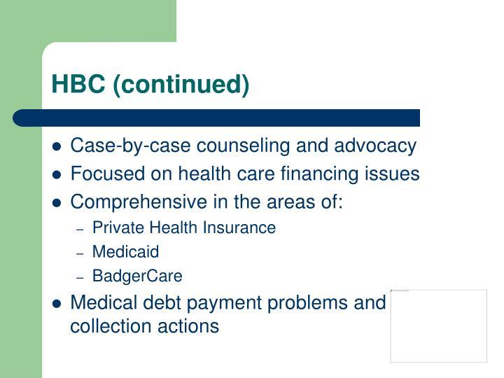 HBC (continued)