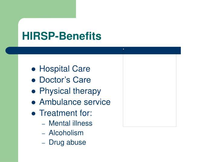 HIRSP-Benefits