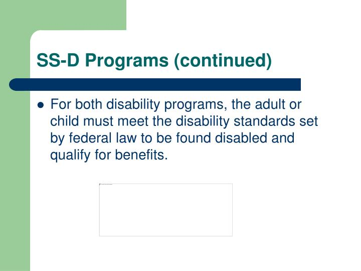 SS-D Programs (continued)