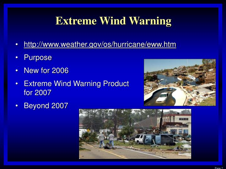 Extreme Wind Warning