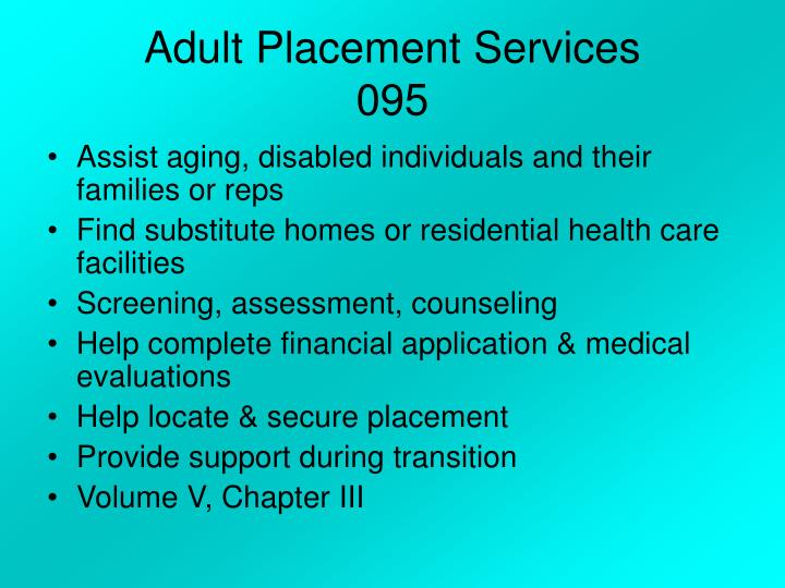 Adult Placement Services