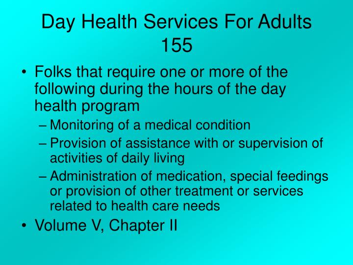 Day Health Services For Adults