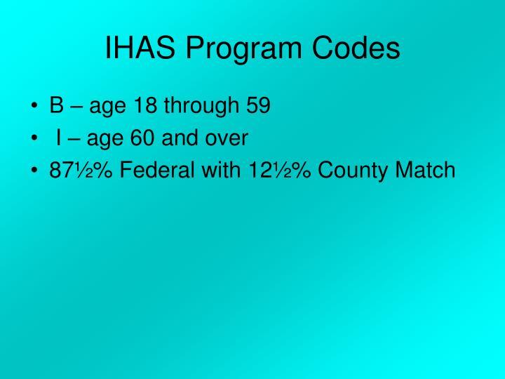 IHAS Program Codes