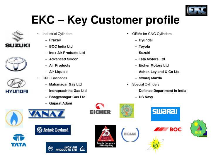 EKC – Key Customer profile