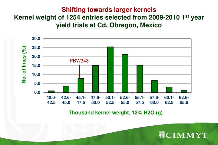 Shifting towards larger kernels