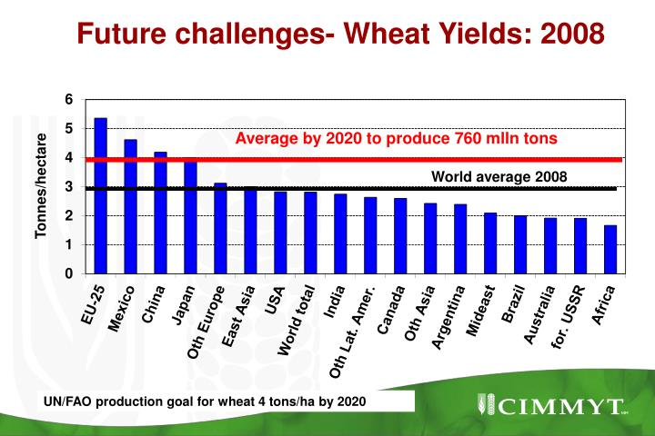 Future challenges- Wheat Yields: 2008