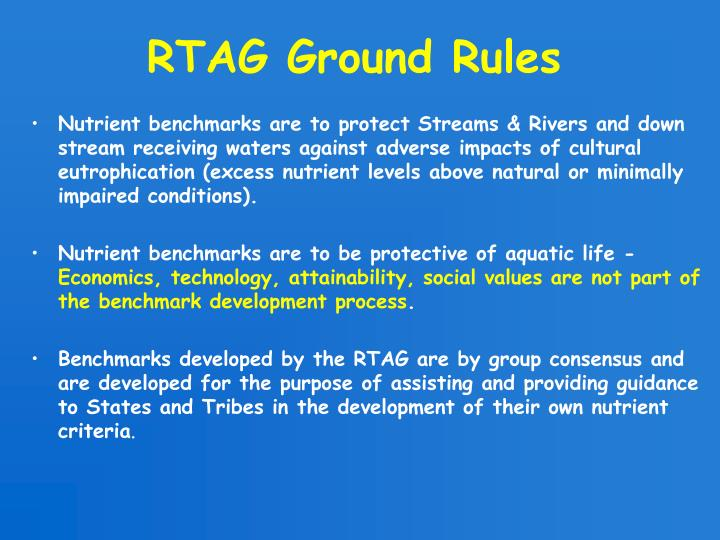 RTAG Ground Rules