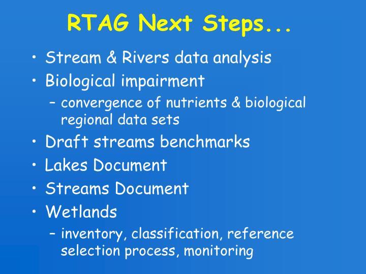 RTAG Next Steps...