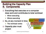 building the capacity plan 8 components