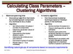 calculating class parameters clustering algorithms