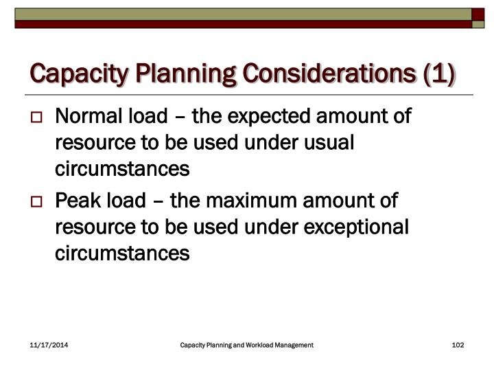 Capacity Planning Considerations (1)