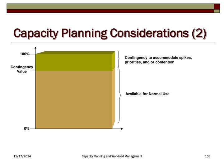 Capacity Planning Considerations (2)