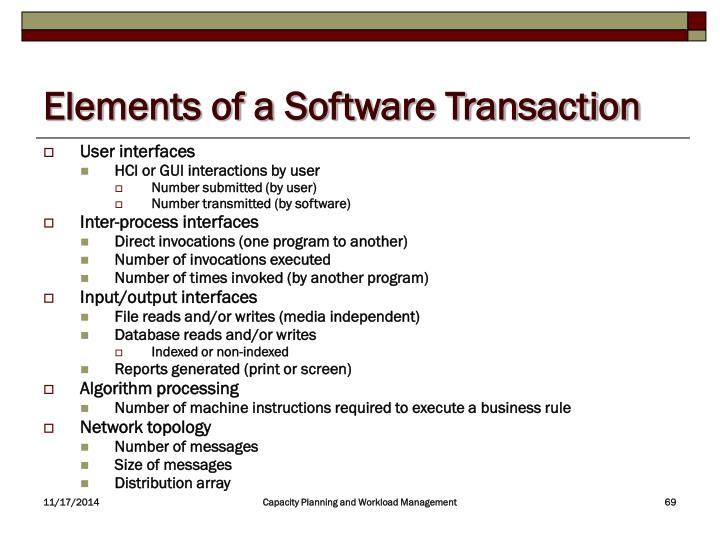 Elements of a Software Transaction