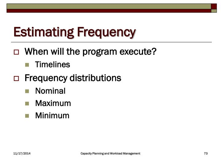 Estimating Frequency