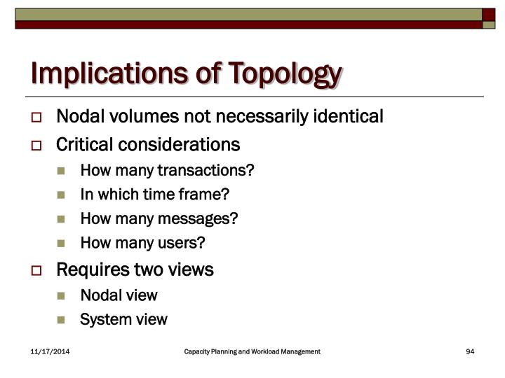 Implications of Topology