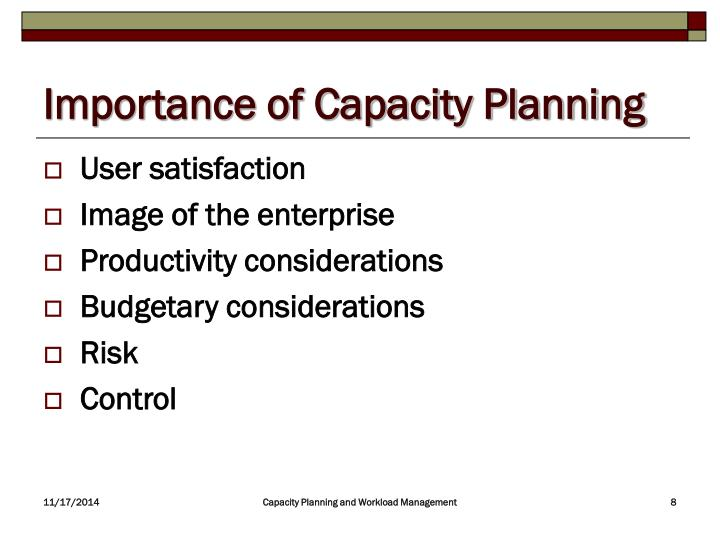Importance of Capacity Planning