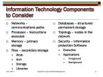 information technology components to consider