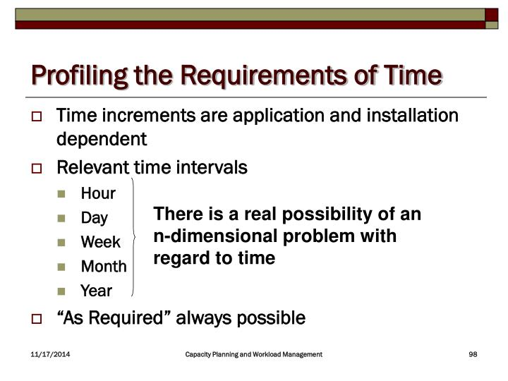 Profiling the Requirements of Time