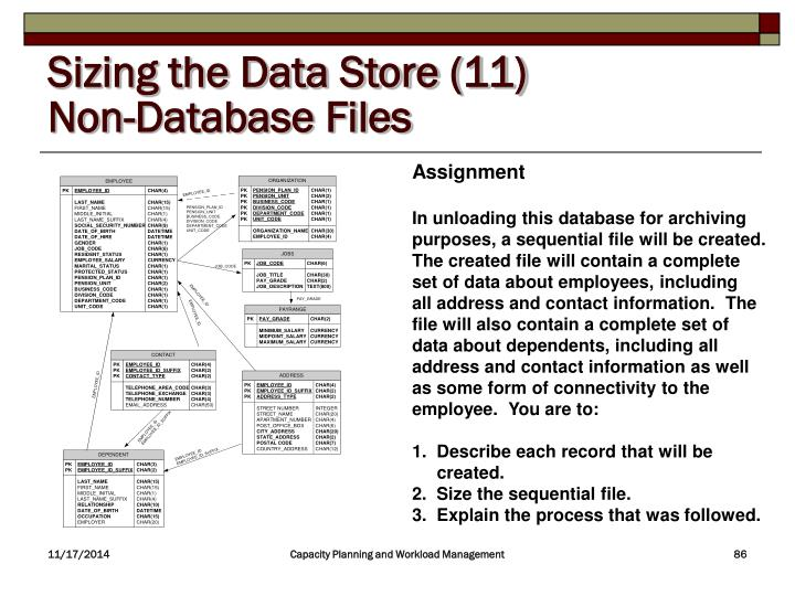 Sizing the Data Store (11)
