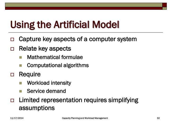 Using the Artificial Model