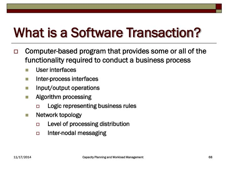 What is a Software Transaction?