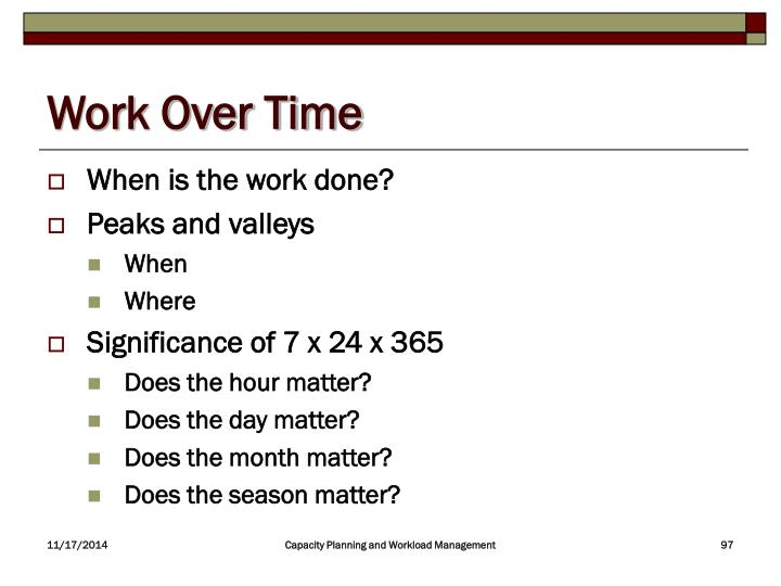 Work Over Time